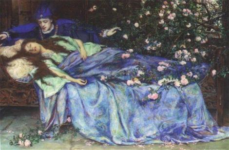 Belle au bois dormant - Henry Meynell Rheam 1899